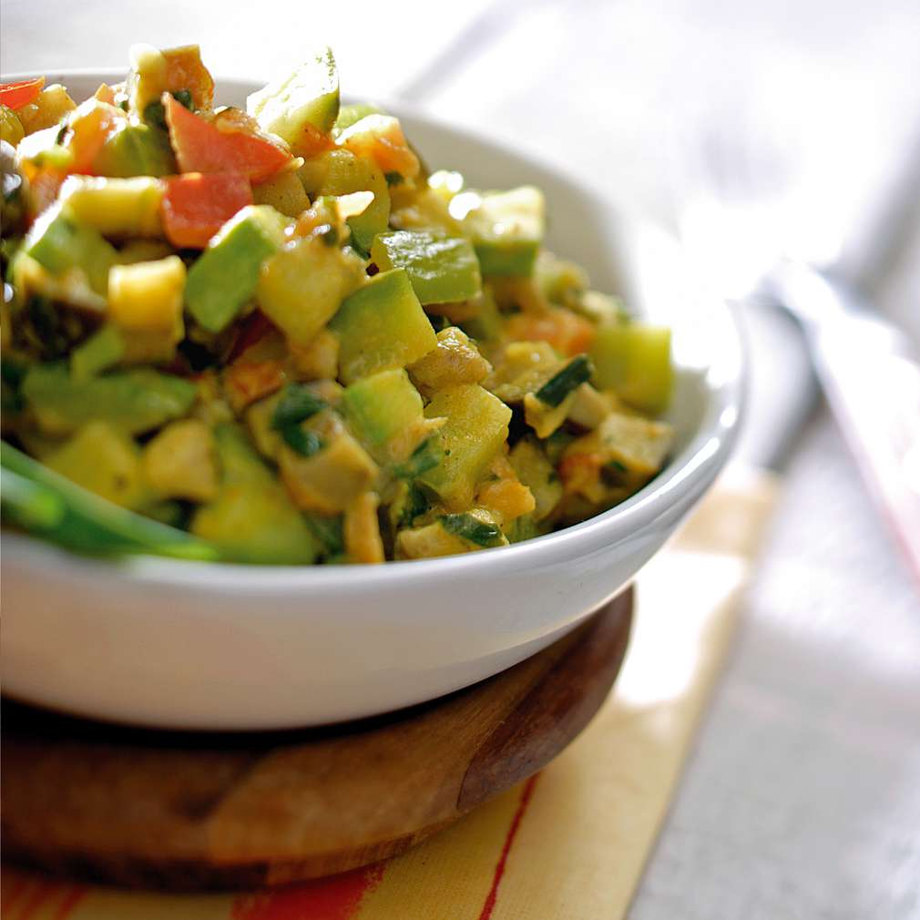 Изобразяване на рецептата Зеленчуково рататуй с куркума
