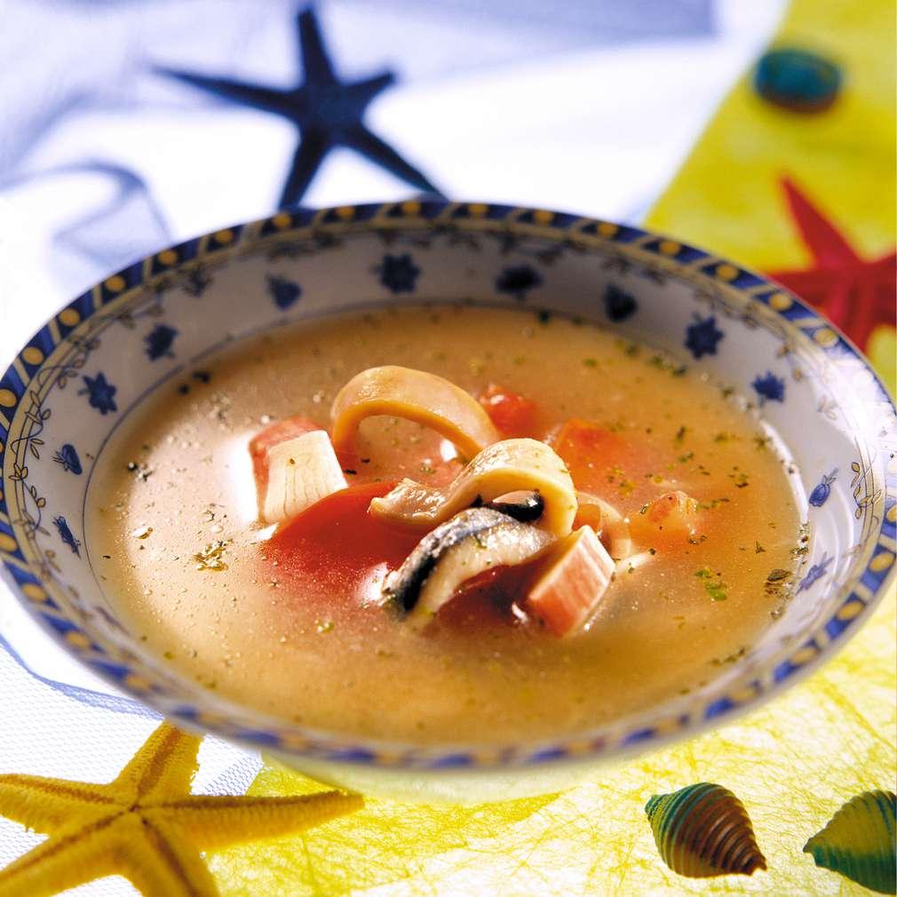 Изобразяване на рецептата Морска супа