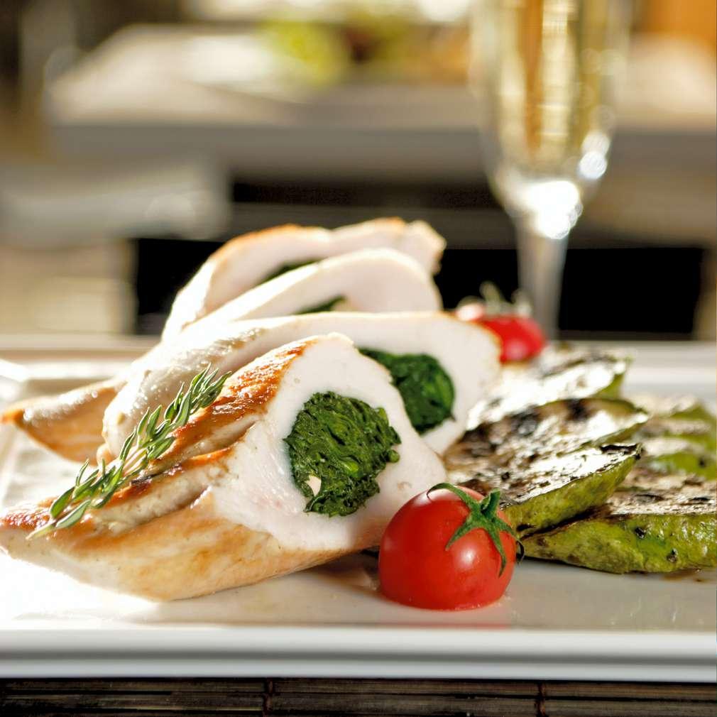 Изобразяване на рецептата Пилешки руладини с плънка от спанак