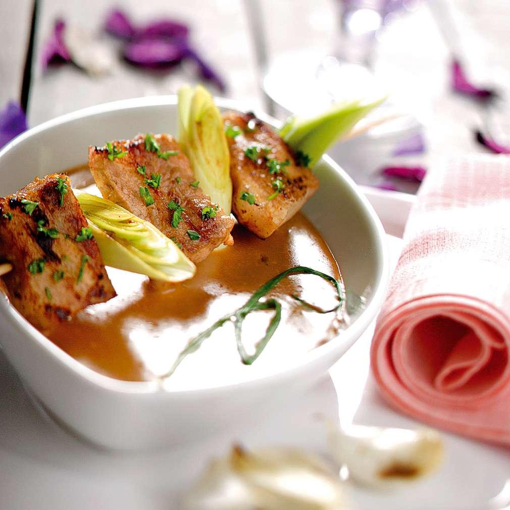 Изобразяване на рецептата Свински гърди с барбекю сос