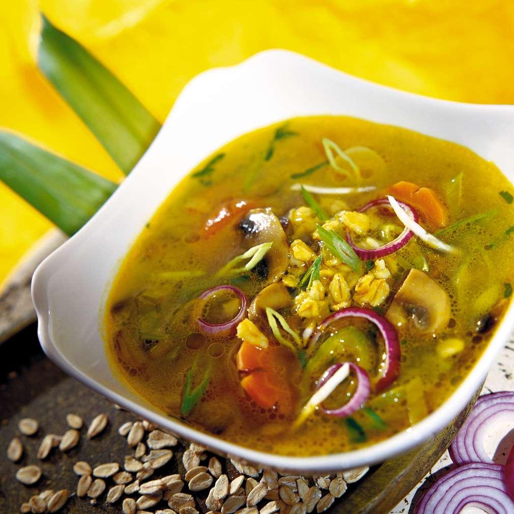 Изобразяване на рецептата Зеленчукова супа с овесени ядки