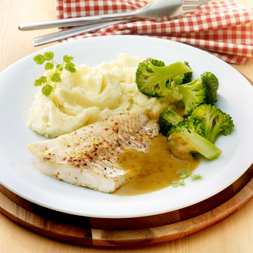 Abbildung des Rezepts Schellfisch mit Brokkoli und Kartoffelpüree