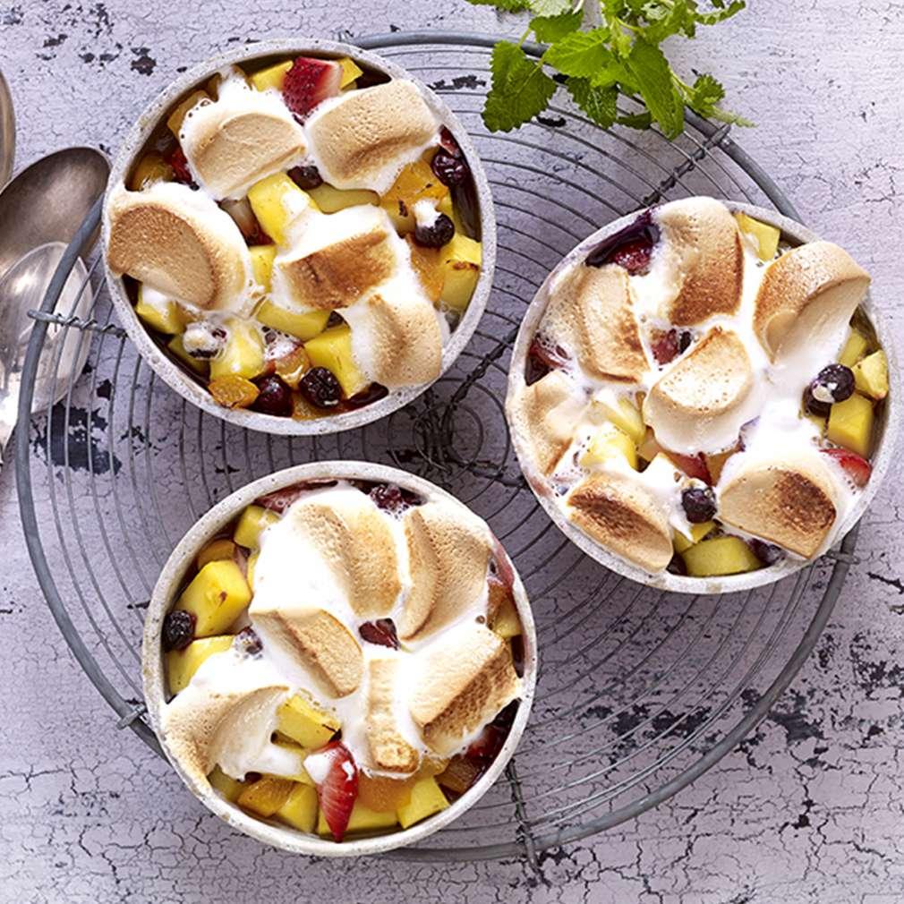 Abbildung des Rezepts Gegrillte Früchte mit Marshmallows