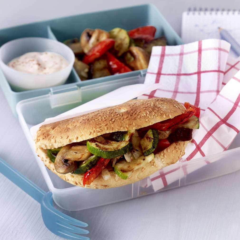 Imaginea rețetei Lipie cu legume la grill