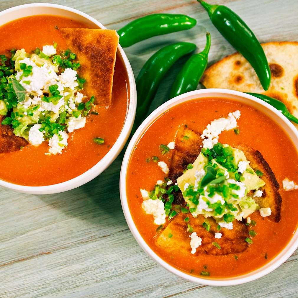 Изобразяване на рецептата Доматена супа в мексикански стил