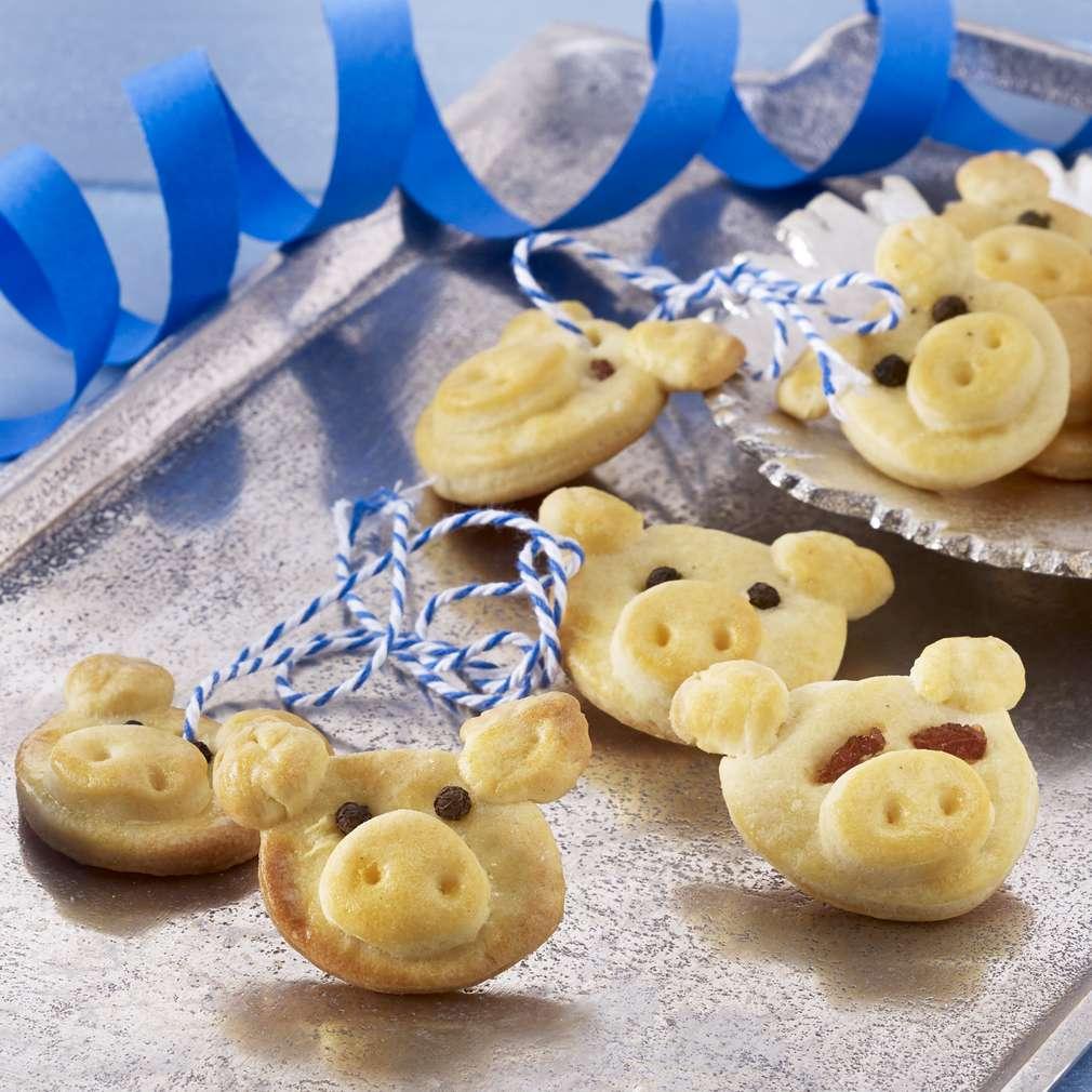 Abbildung des Rezepts Gebackene Glücksschweinchen