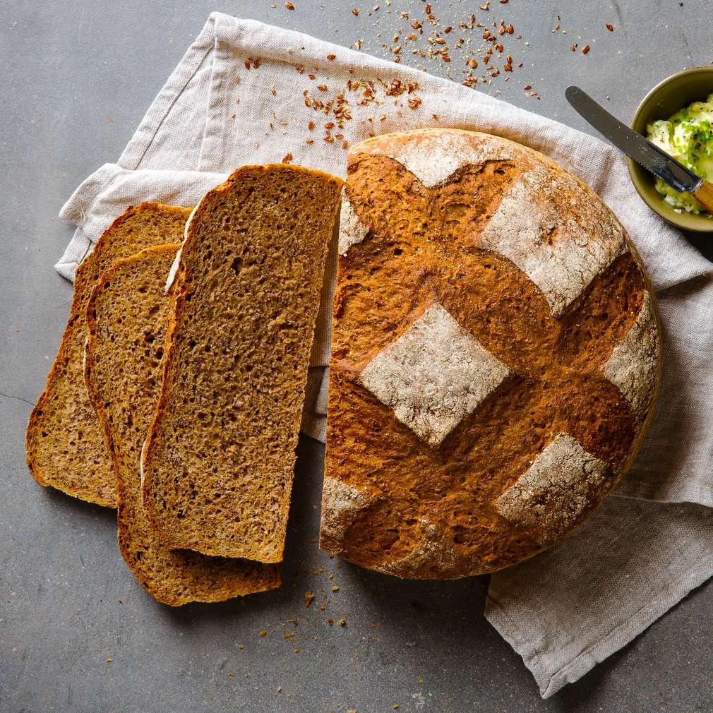 Abbildung des Rezepts Dinkel-Leinsamen-Brot