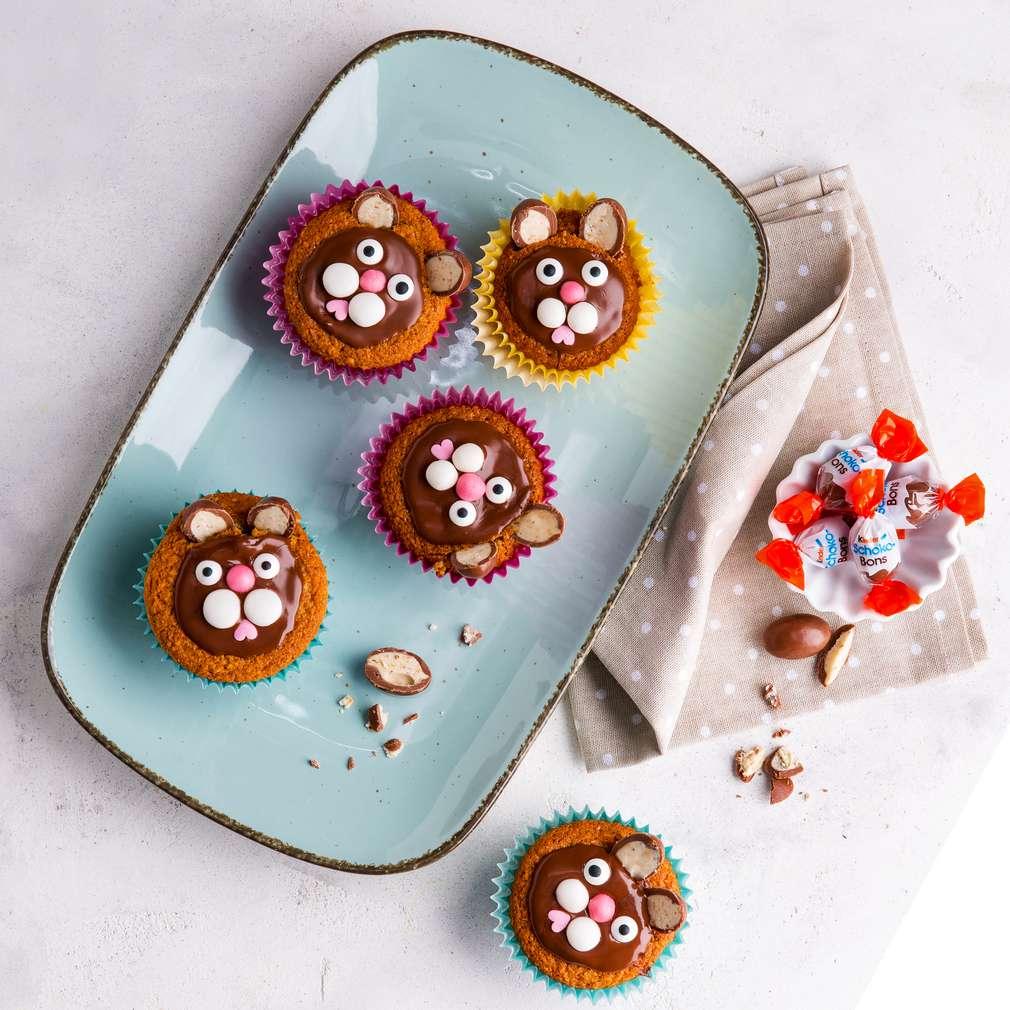 Zdjęcie przepisu Wielkanocne muffinki z zajączkami