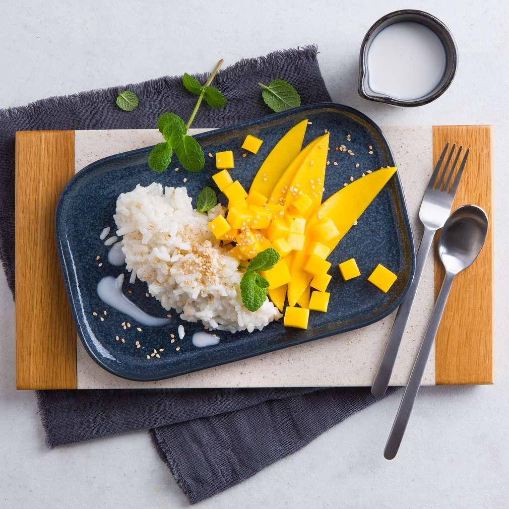 Abbildung des Rezepts Sticky Reis mit Mango