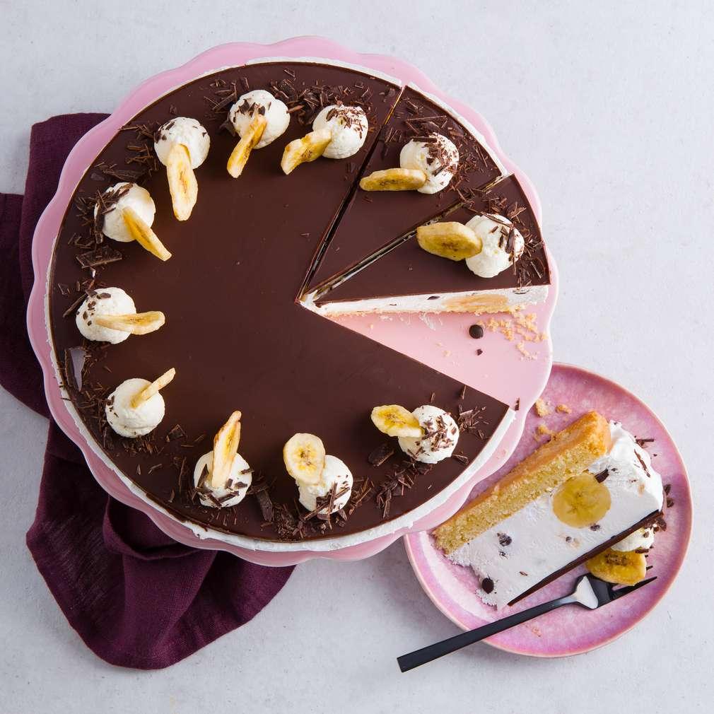 Abbildung des Rezepts Vegane Bananensplit-Torte