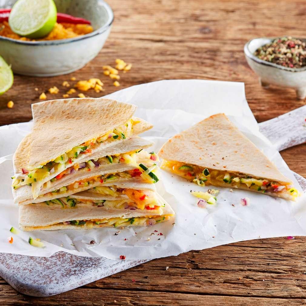 Abbildung des Rezepts Zucchini-Limetten-Quesadillas