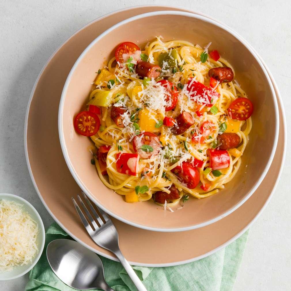 Abbildung des Rezepts One-Pot-Pasta mit Kabanossi