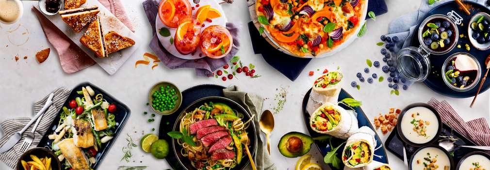 Various delicious dishes