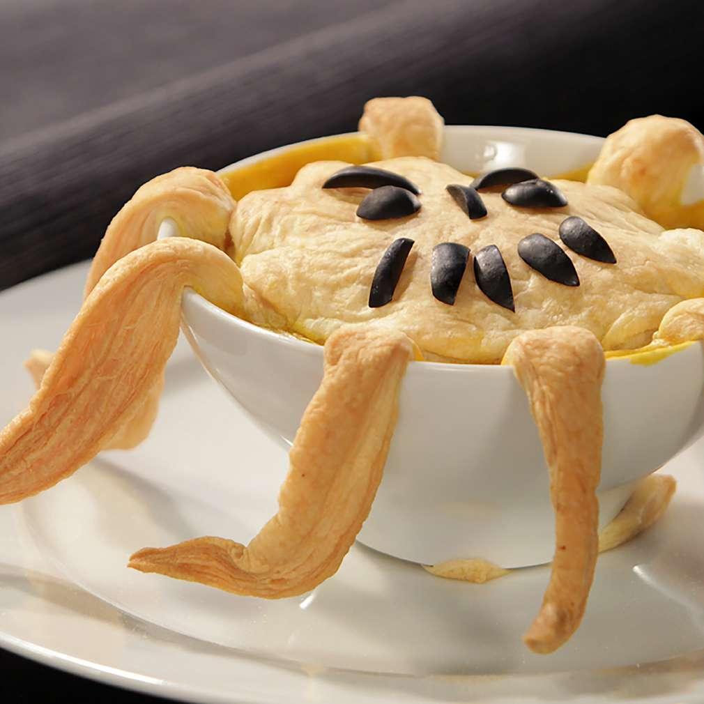 Изобразяване на рецептата Супа от тиква за Хелоуин