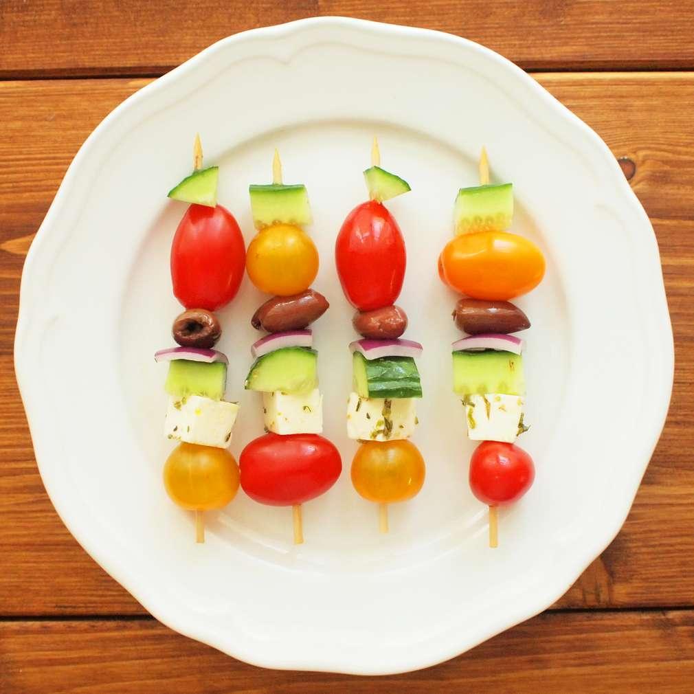Řecké salátové jednohubky