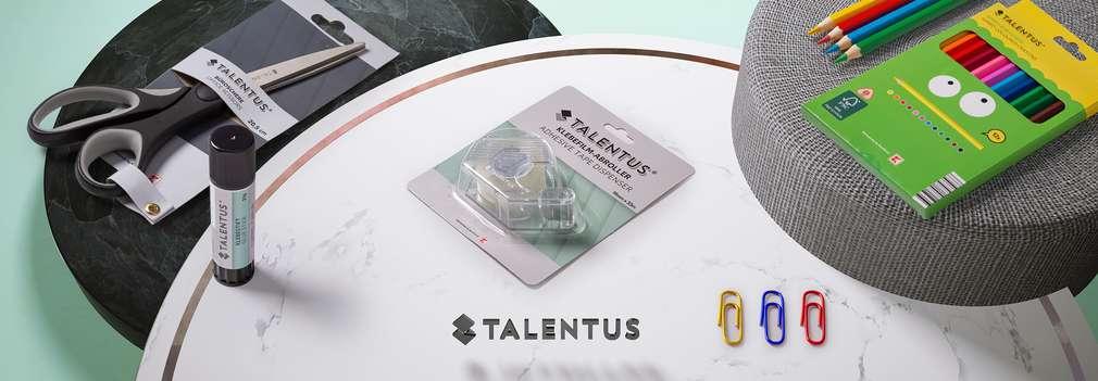 Nůžky, lepidlo, pastelky a další produkty značky Talentus®