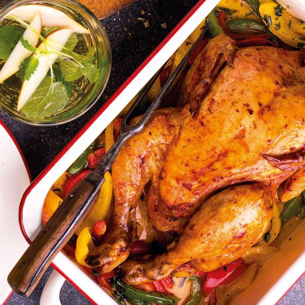 Zobrazit Pečené kuře na paprikách receptů
