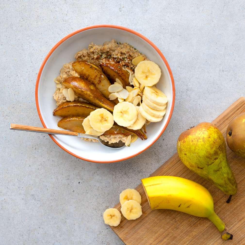 Zobrazit Ovesná kaše s karamelizovanou hruškou receptů