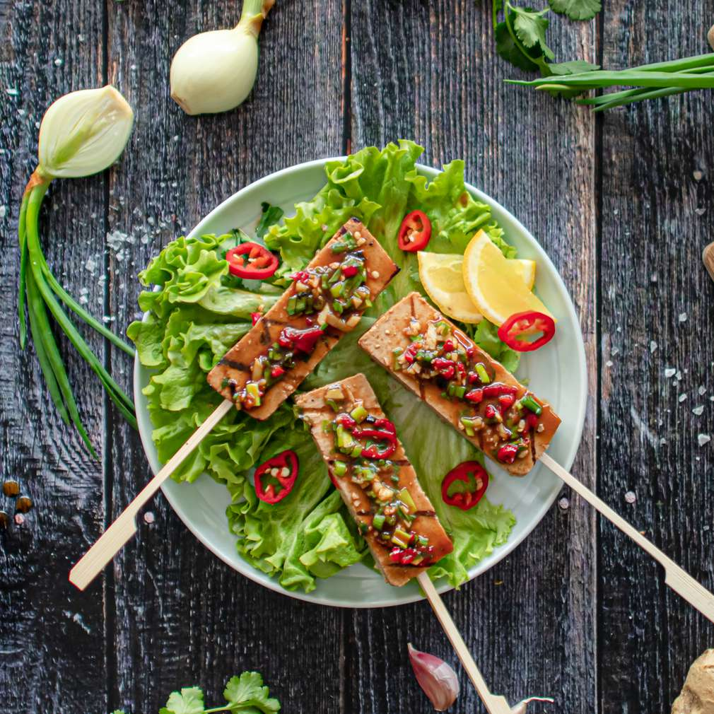 Zdjęcie przepisu Grillowane tofu w sosie sojowym