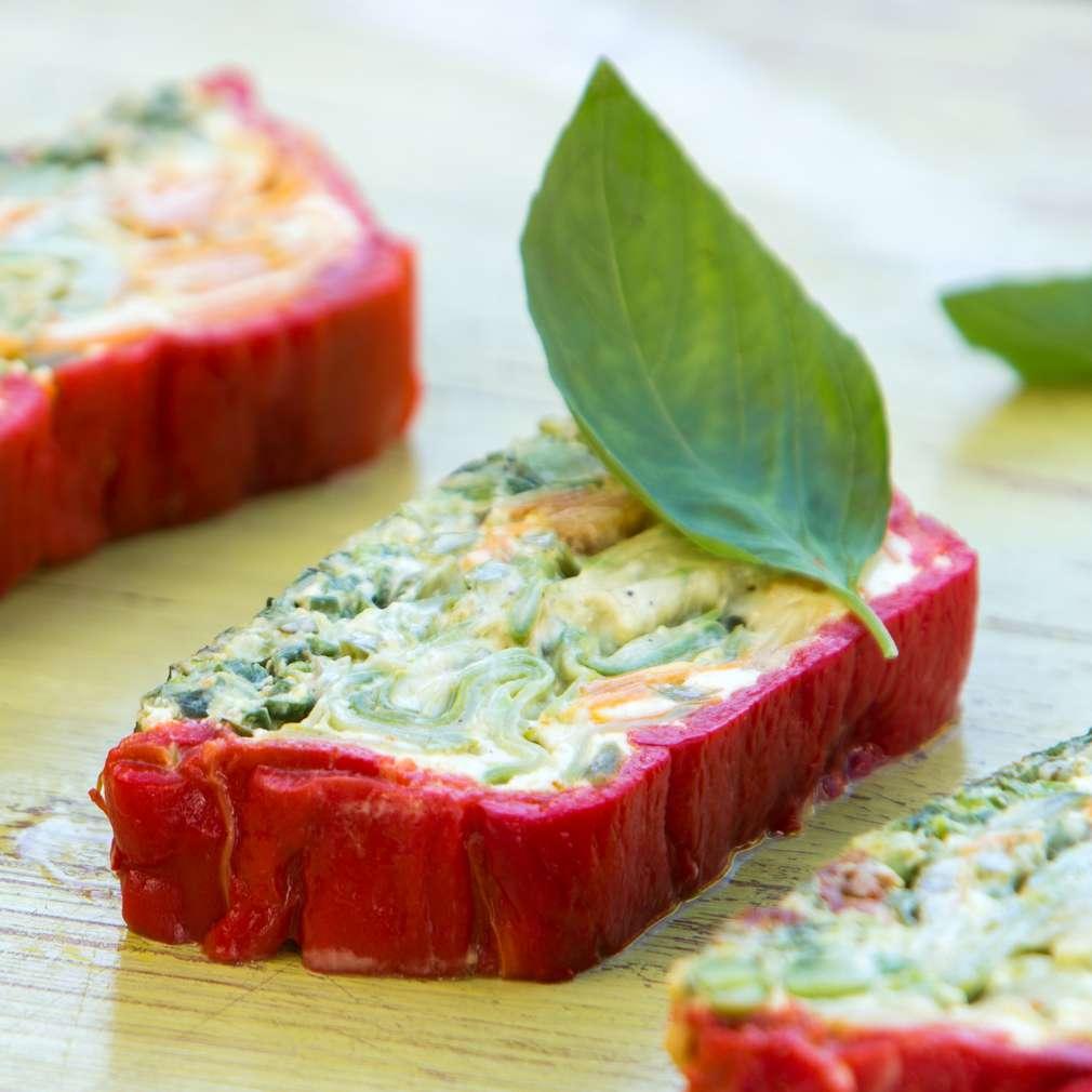 Изобразяване на рецептата Летен зеленчуков терин