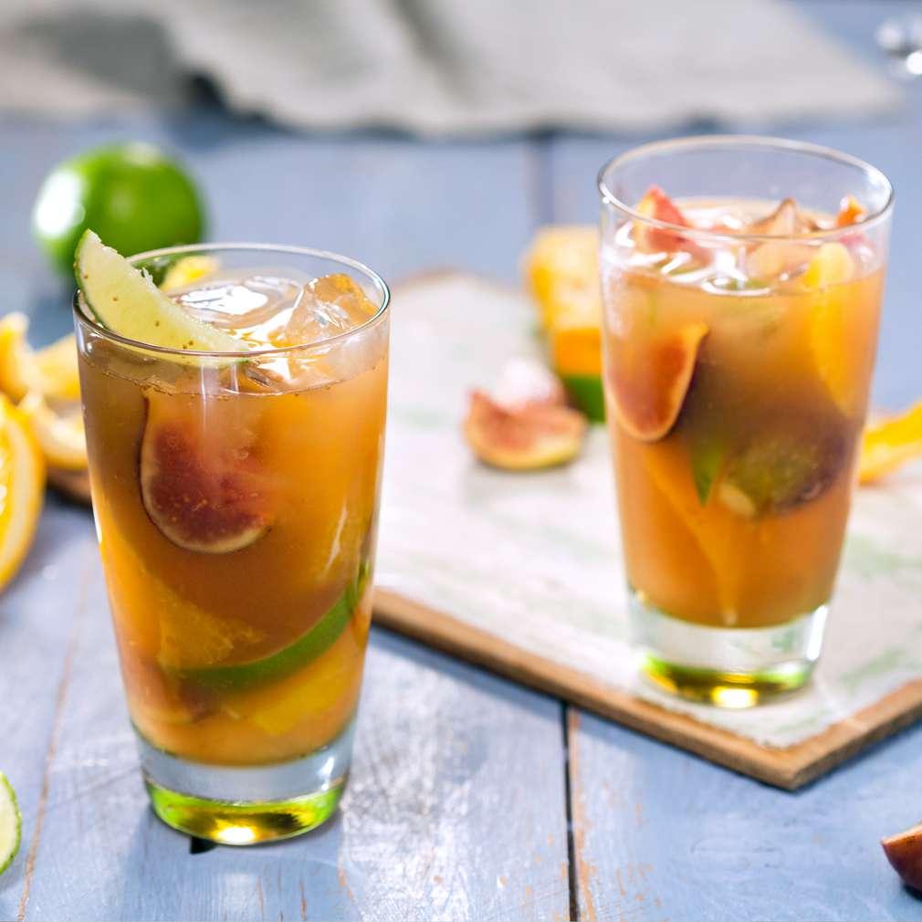 Изобразяване на рецептата Студен чай с цитруси и смокини