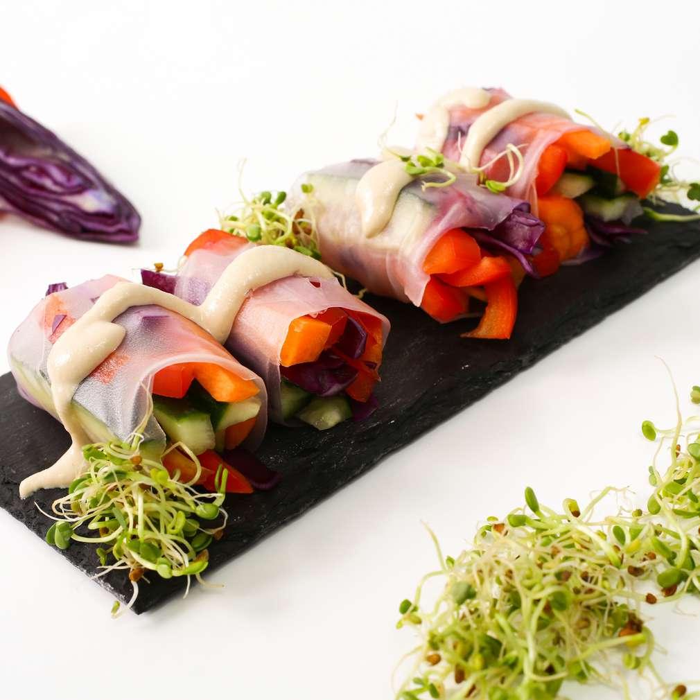 Pachețele de primăvară raw vegan