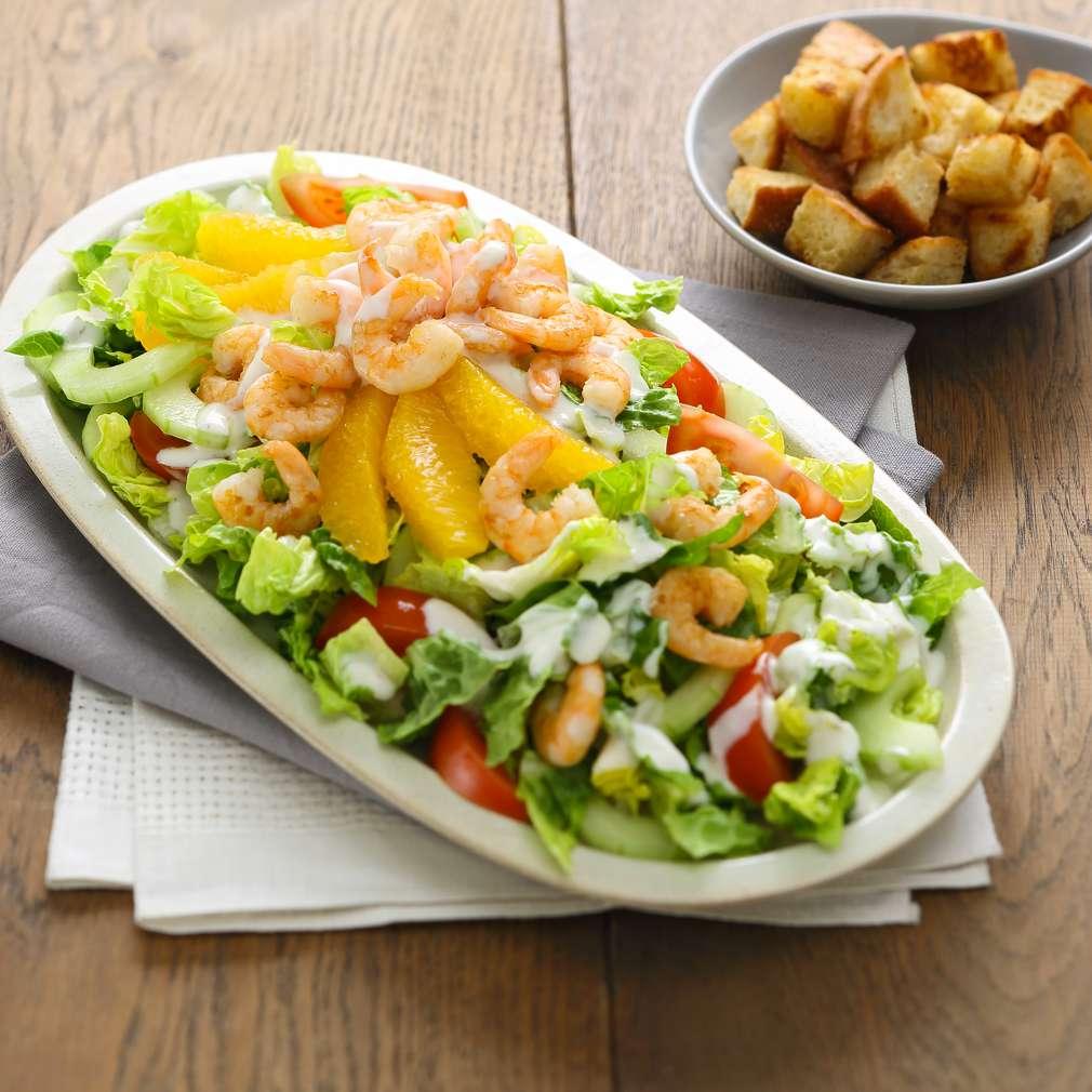 Abbildung des Rezepts Garnelen-Orangen-Salat