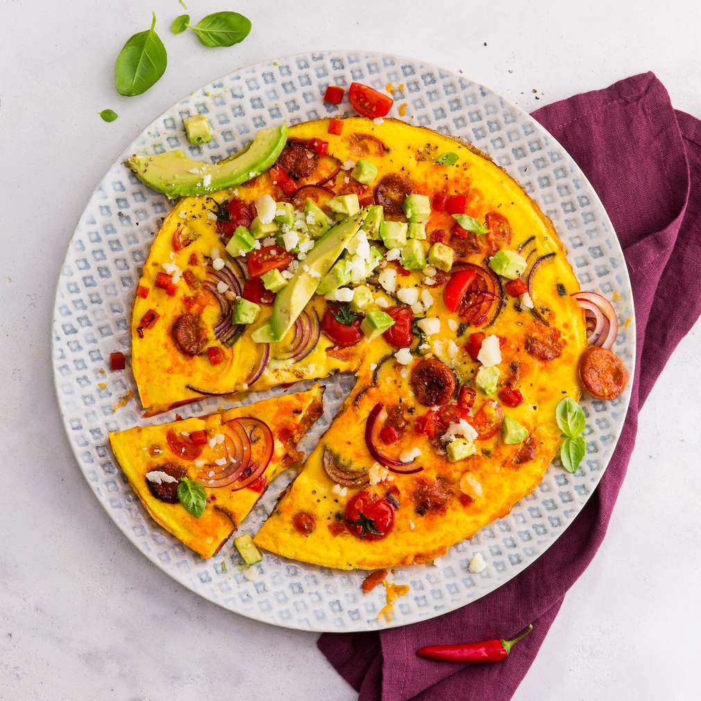 Abbildung des Rezepts Spanisches Omelett mit Chorizo und Manchego-Käse