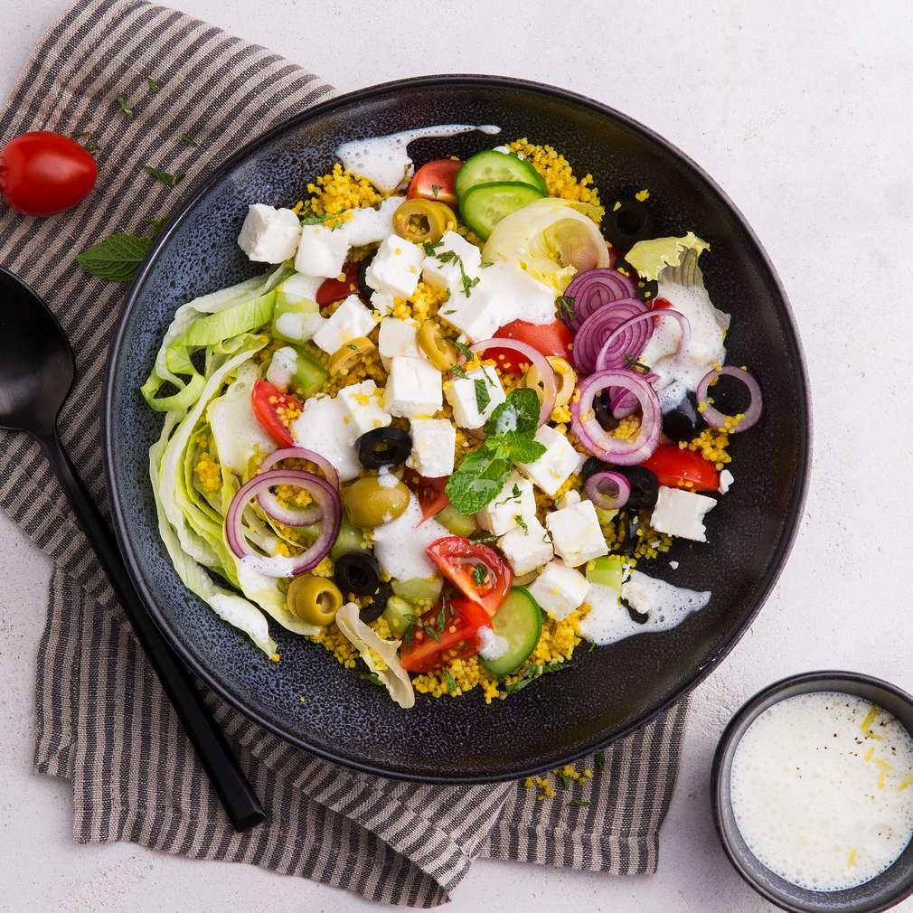 Abbildung des Rezepts Griechischer Salat mit Couscous