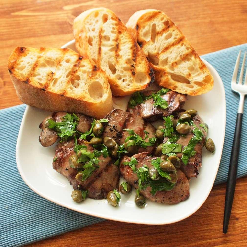 Zobrazit Topinky s grilovanými játry receptů