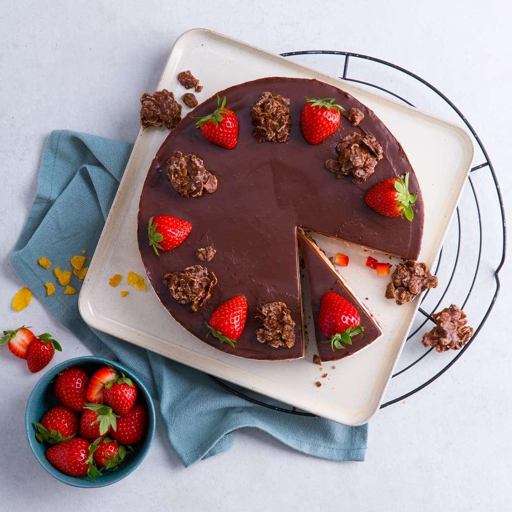 Abbildung des Rezepts Choco-Crossies-Torte ohne Backen