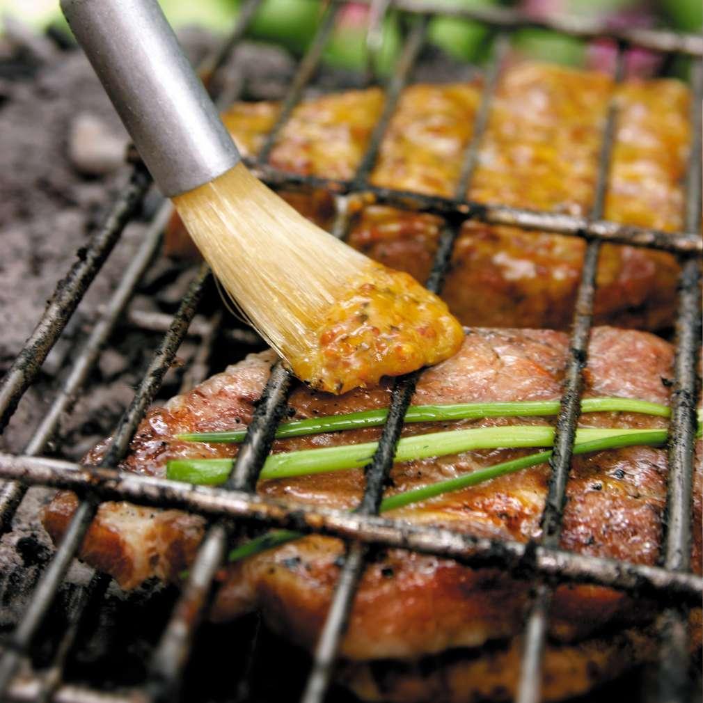 Изобразяване на рецептата Свински пържоли с жълтъчна глазура