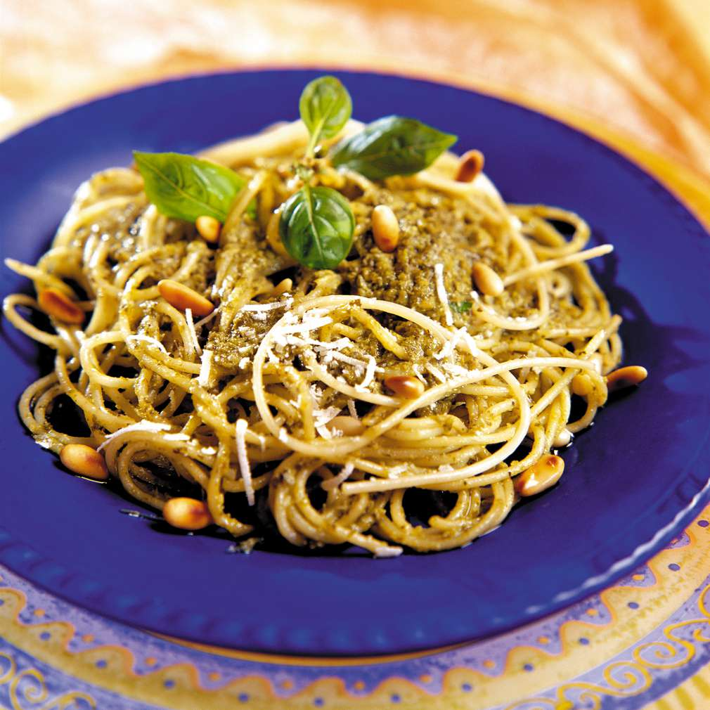 Изобразяване на рецептата Вермичели с песто от тиквички