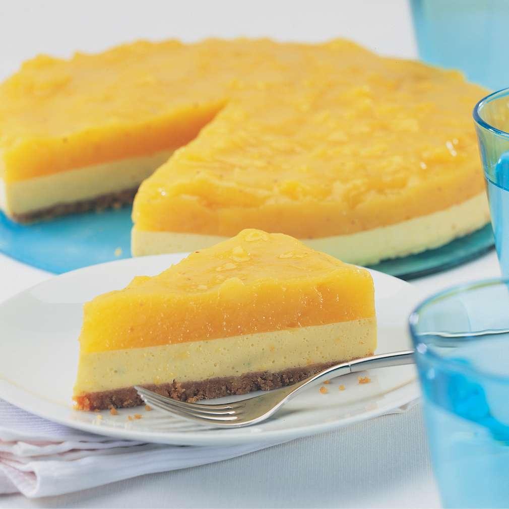 Plăcintă cremoasă cu mango