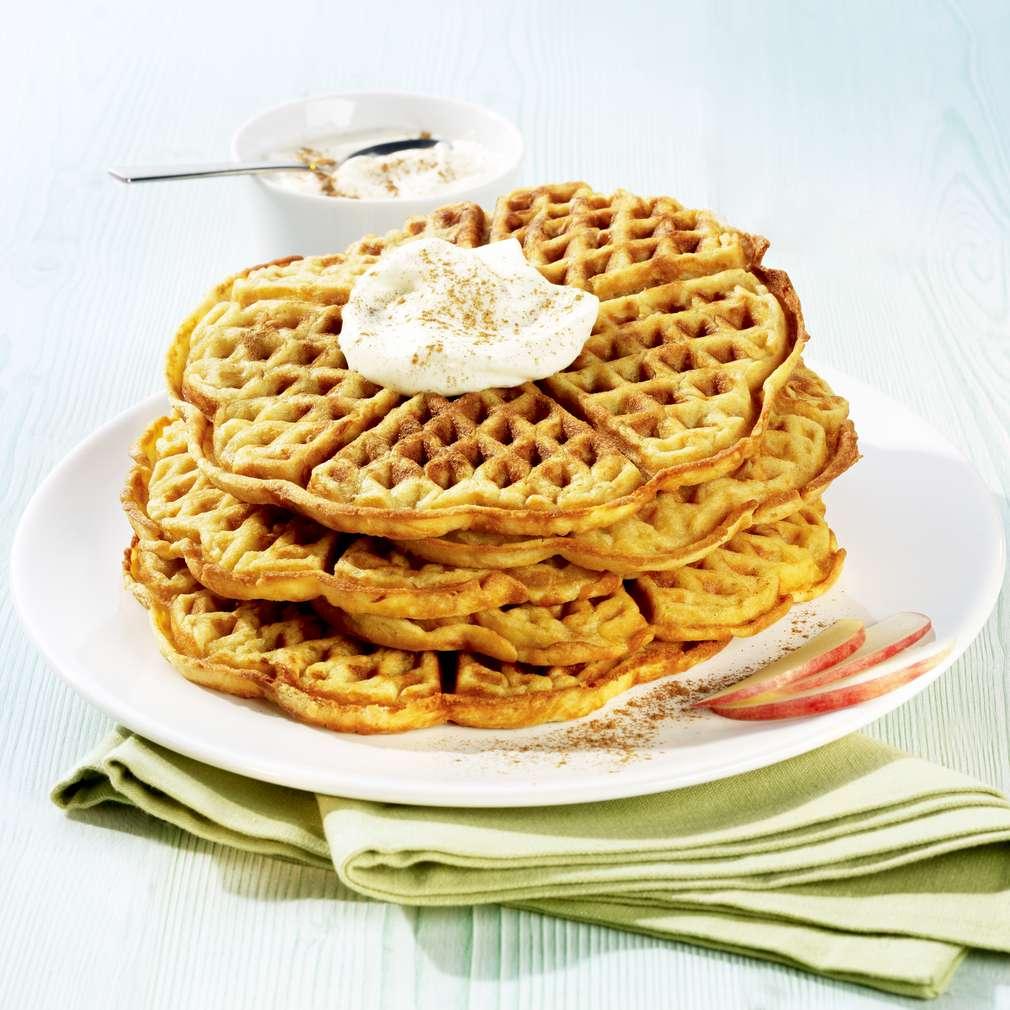 Zobrazit Jablečné wafle se skořicí receptů