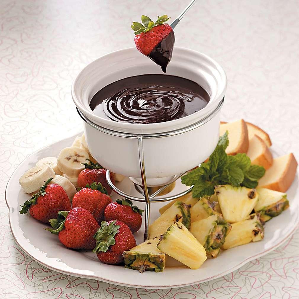 Fondue cu cafea și ciocolată