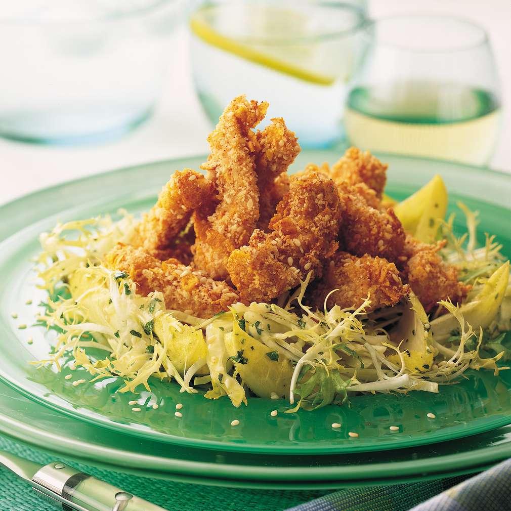 Imaginea rețetei Salată caldă de pui cu susan