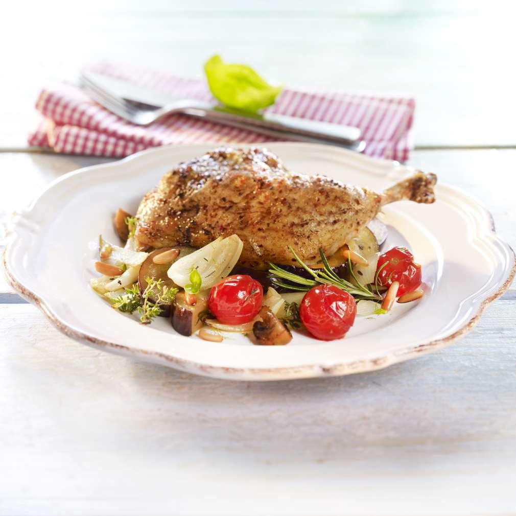 Zobrazit Kuře na česneku se středomořskou zeleninou receptů