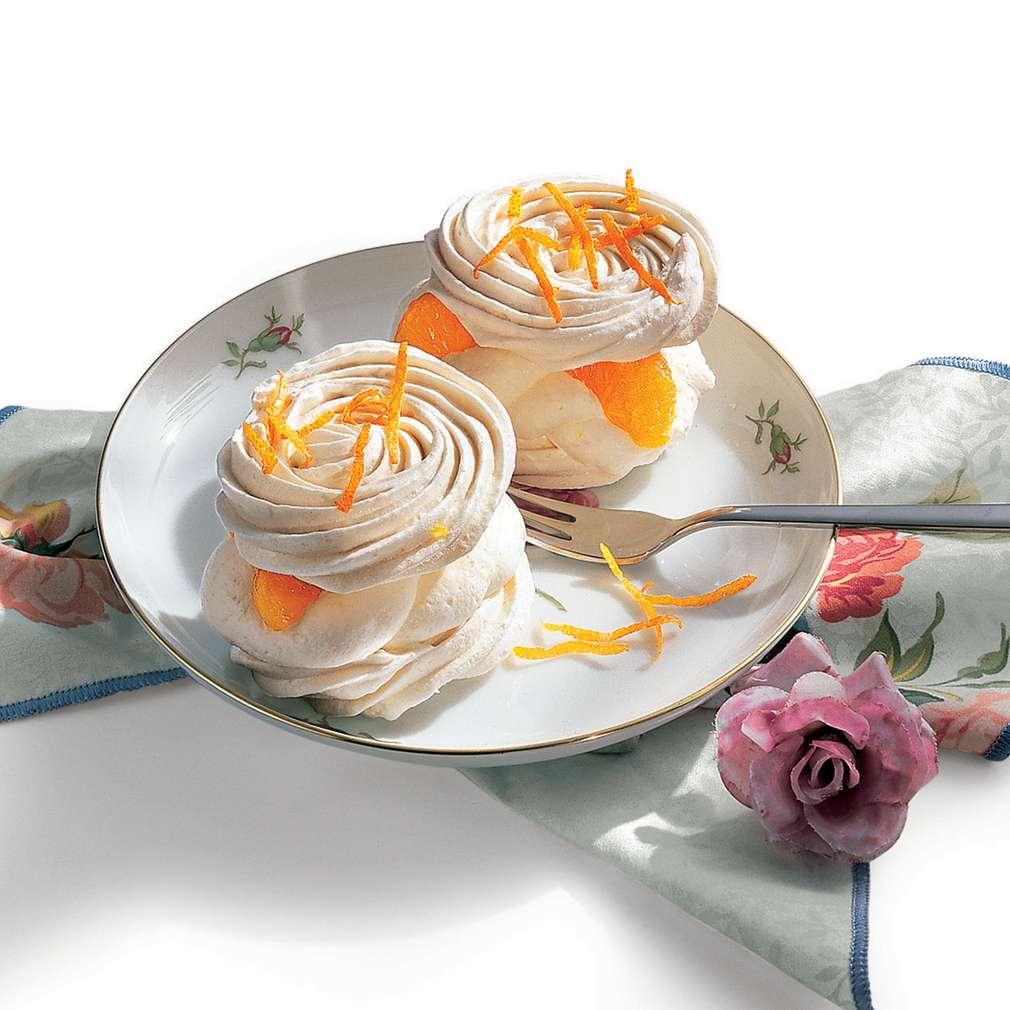 Imaginea rețetei Bezele cu frișcă și portocale