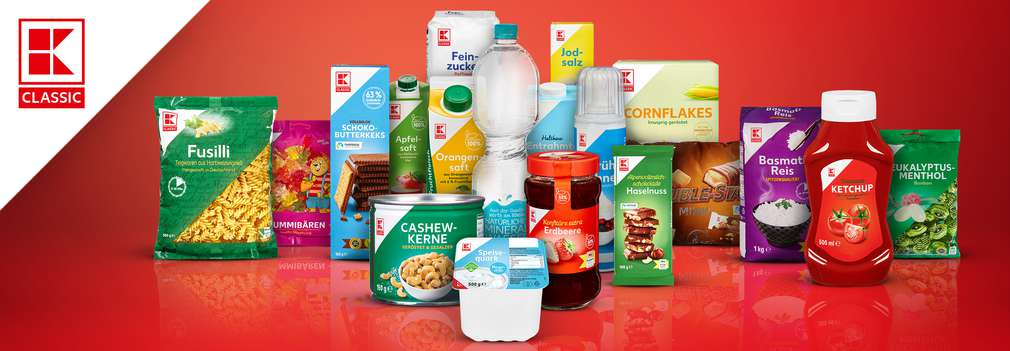 Produktcollage aus K-Classic Produkten