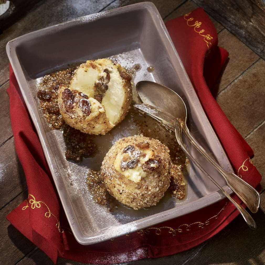 Fotografija recepta Pečene jabuke s orašastom koricom