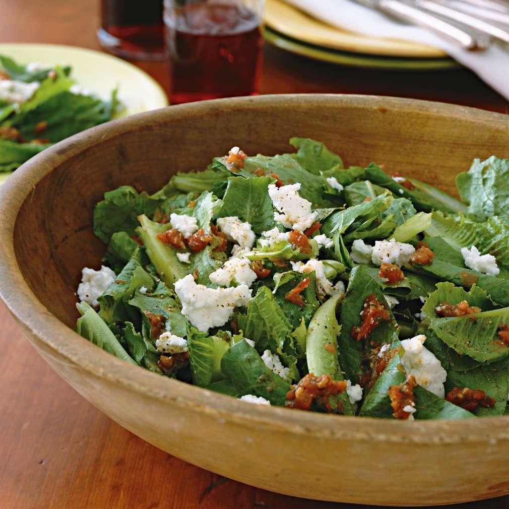 Imaginea rețetei Salată romană și vinegretă cu roșii