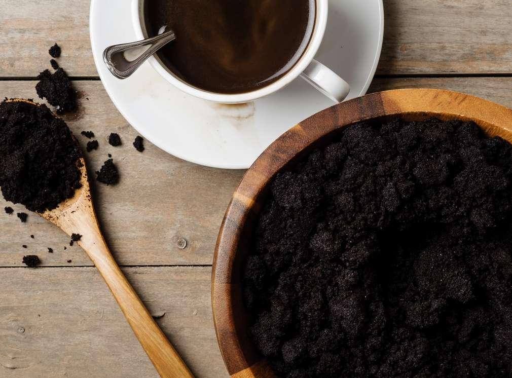 fusy z kawy, peeling