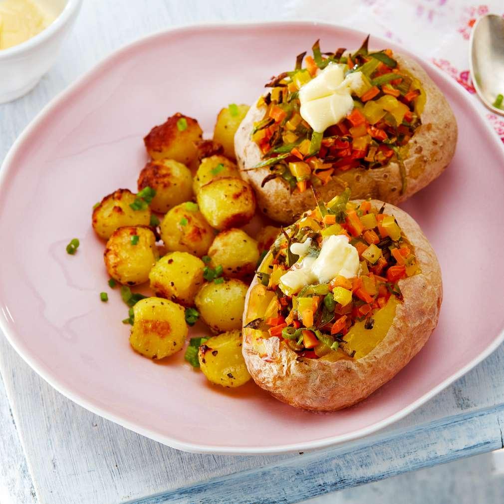 Abbildung des Rezepts Gefüllte kleine Kartoffeln