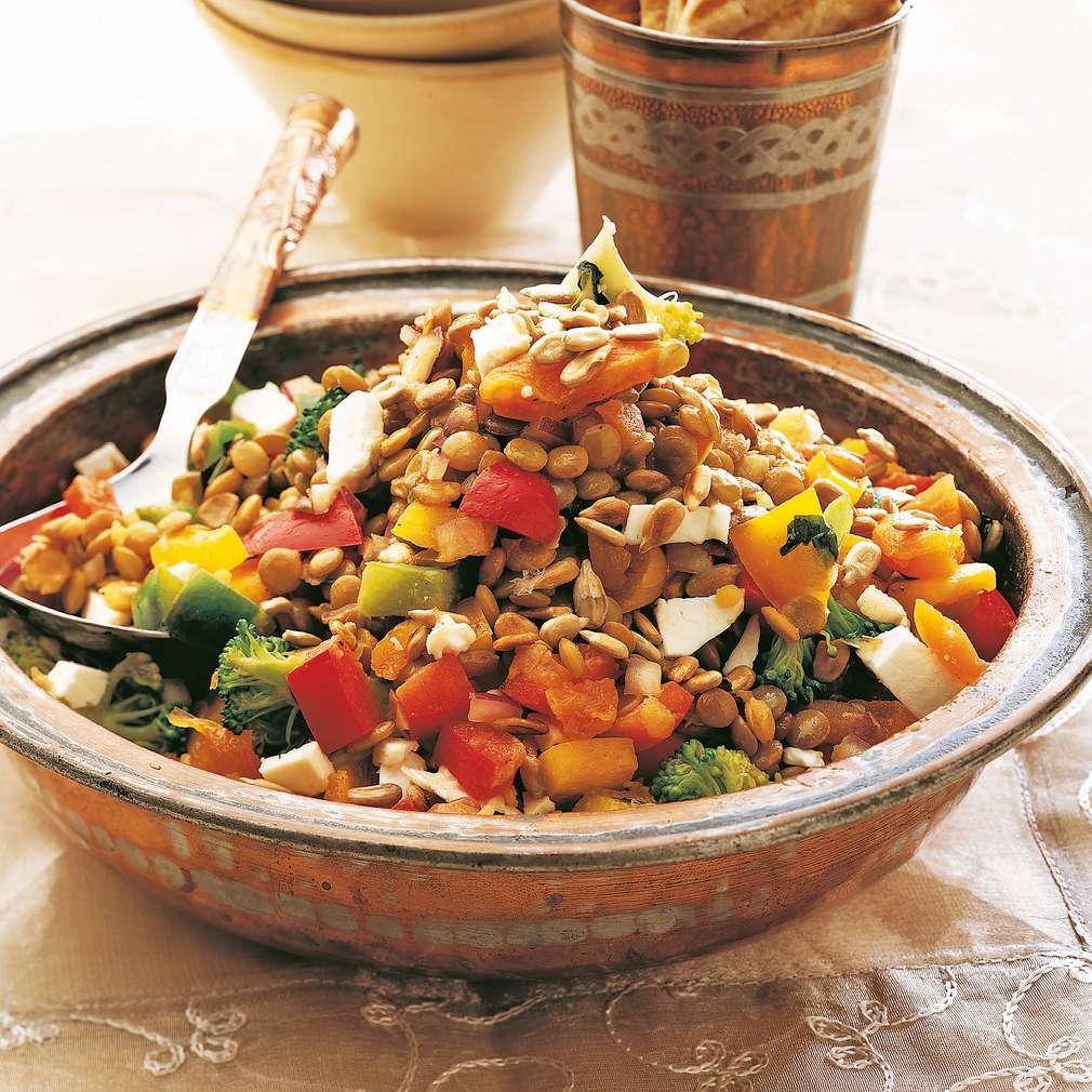Salată orientală de linte