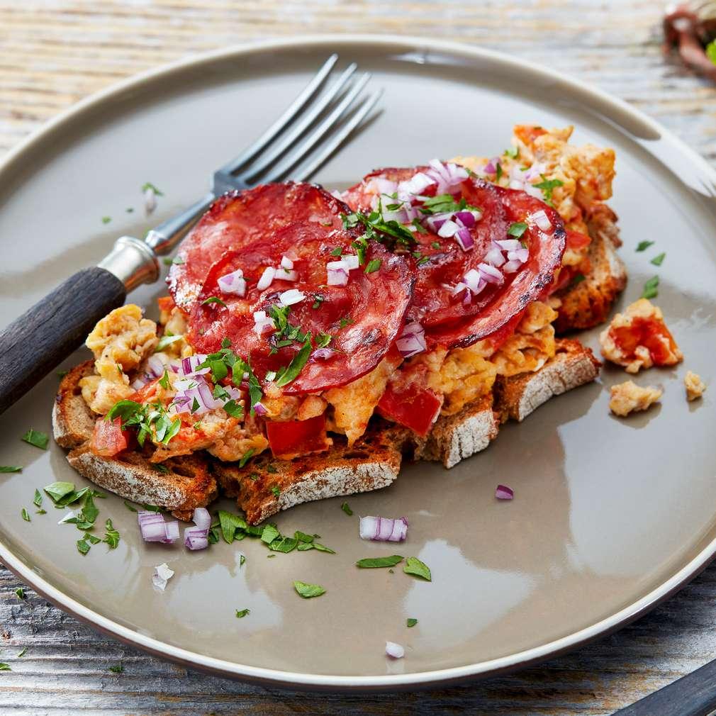 Abbildung des Rezepts Röstbrot mit Chorizo