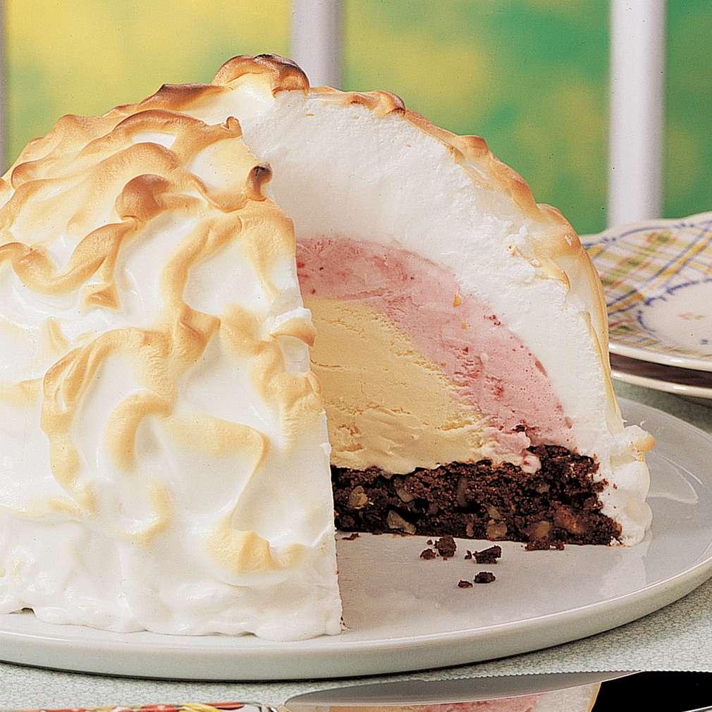 Imaginea rețetei Prăjitură Alaska cu negresă