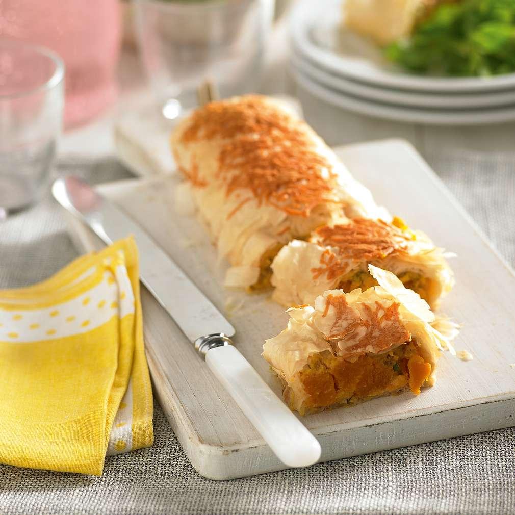 Imaginea rețetei Ruladă cu dovleac și tofu