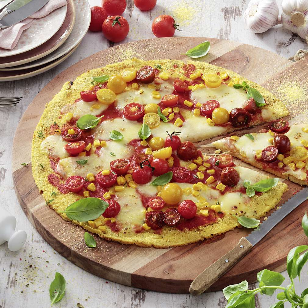 "Abbildung des Rezepts Mais-Pizza ""Caprese"""