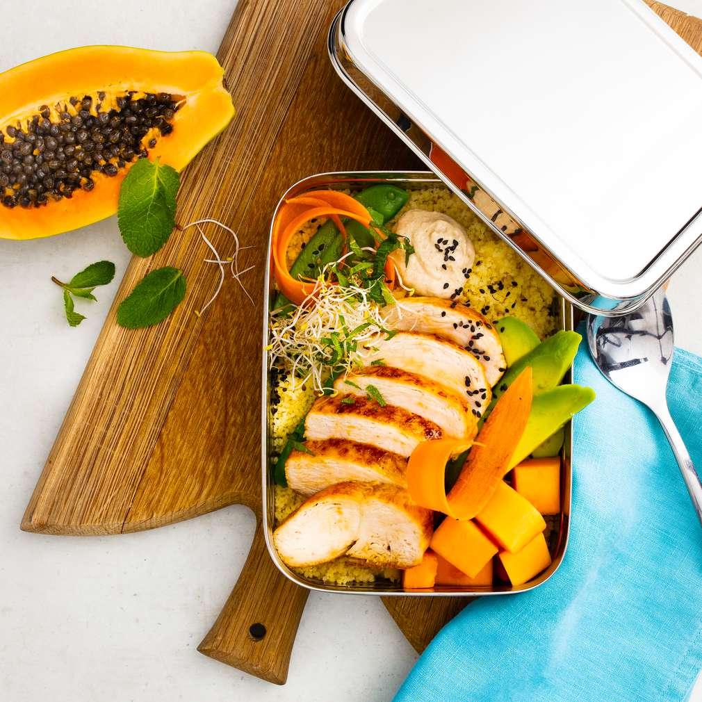 Abbildung des Rezepts Schnelle Meal-Prep-Bowl mit Couscous